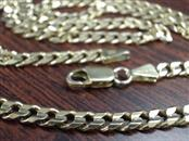 """20"""" CURB CUBAN LINK NECKLACE 4.3mm CHAIN. REAL 14k GOLD 19.8g ITALY"""